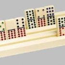 8 Domino Racks For Dominoes Mexican Train Game Holder Tiles Tray Holders Plastic