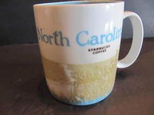 Starbucks North Carolina Global Icon 2009 Collector Series Coffee Mug 16 oz