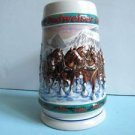 Budweiser's Clydesdale Holiday Stein 1993 Stein Special Delivery Nora Koerber