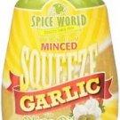 Spice World Premium Minced Garlic with Olive Oil Glutten Free 9.5 Oz Seasoning