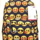 Emoji Backpack School Pack Bag Back Pack Satchel Shoulder Smile Face Smiley USA