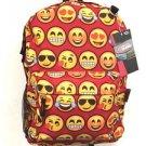 Emoji Backpack RED School Pack Bag Back Pack Shoulder Smile Face Smiley USA