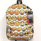 Emoji Backpack White School Pack Bag Back Pack Shoulder Smile Face Smiley USA
