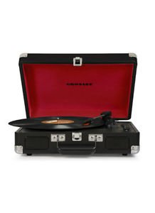 Cruiser Bluetooth Deluxe Turntable Black Vinyl Record Player 3 Speed  Portable