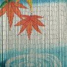 Natural Bamboo Beaded Serenity Water Ripple Curtain Window Doors Divider