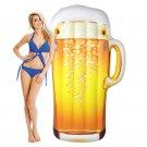 Pool Float Happy Hour Beer Mug Inflatable Ocean Beach 6 FOOT Raft Floating Float