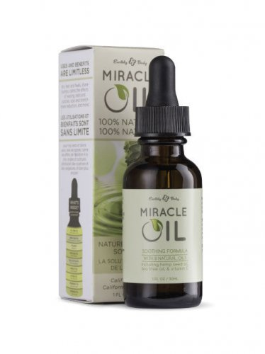 Miracle Oil Earthly Body 1 oz Hemp Natural Healing Natural Oils Stretch Marks