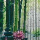 Natural Bamboo Beaded Curtain Serenity Zen Window Doors Room Divider Panel Decor