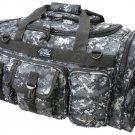 "26"" Black Urban Tactical Duffel Dufflebag Range Bag Molle Straps Multi Pocket"