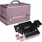 Makeup Case Cosmetic Organizer Pink Krystal Pro Beauty Case Professional