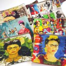 Frida Make Up Cosmetic Bag Coin Purse Pouch Mexican Kahlo Small Canvas Stash