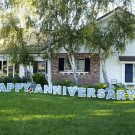 Happy Anniversary Outdoor Yard Lawn Greeting Sign Announcement Decoration Party
