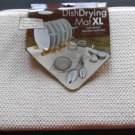 The Original Dish Drying Mat XL Sz 18 x 24 Cream Microfiber Towel Rack Absorbent