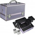 Makeup Case Cosmetic Organizer Purple Krystal Pro Beauty Case Professional