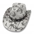 Cowboy Cowgirl Hat Palm Trees Rodeo Western One Size West Band And Star Concho