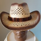 Cowboy Hat w/ Band Adult New Wrangler Rodeo Western Brown One Size Sun 4 styles
