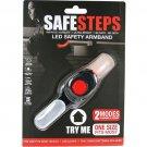 Safe Steps LED Light Jogging Walking Biking Arm Band Night Dark Safety RED
