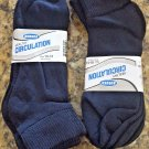 Diabetic Socks Anklet BLACK 6 Pair Sz 10-13 Healthy Circulation Buruka Non Bind