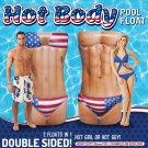 Hot Body Pool Float Patriotic 2 Sided  Inflatable Ocean Beach Double 6 FOOT Raft