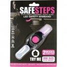 Safe Steps LED Light Jogging Walking Biking Arm Band Night Dark Safety 2 Modes