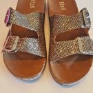 H2K Karen Glitter Bronze Fashion Slides Flip Flops Sandals Bling Slides Straps