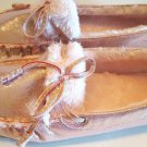 H2K KATHY Fashion Slip Ons Light Weight MOCS Moccasins Fuzzy PINK Driving Shoe