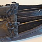 H2K KATHY Fashion Slip Ons Light Weight MOCS Moccasins Fuzzy Black Driving Shoe