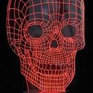 3D Optical Illusion LED Skull 7 Color Changing Light Night USB Lamp Halloween