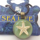 Real Starfish in Clear Resin Charm Necklace Pendant Assorted Colors Surfer Ocean