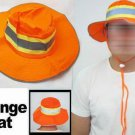 Lot of 6 Pieces Booney Hat Orange Silver Reflective Tape Gear Safety L/XL Sun