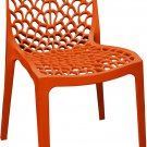Patio Chairs Indoor Outdoor Set Of 2 RED Stackable Dining Cafe Garden Porch