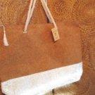 Cork Bag Metallic Beige Shopper Beach Gym Tote Bag Handbag  Purse Big X-Large XL