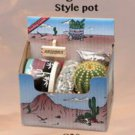 "BARREL Cactus Gift Box Arizona Grown Plant Southwest Gift Ready To Grow 3"" Pot"