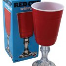 Red Solo Cup Wine Glass Redneck Party W/ Stem Hillbilly Party Beer Gift Box 16OZ