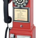 Crosley 1950s RED Replica Pay Phone Telephone PayPhone Working New Phonebooth