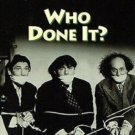 The Three Stooges: Who Done It?  VHS Tape Video plus 2 other Episodes Comedy B/W