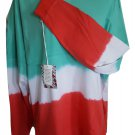 Tye Dye Ombre Oversized T Shirt Fushia Green TEE Cover Up  Beach Jumbo Jersey