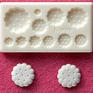 Miniature Round Cookies - Sweet Deco - Floree Clay Mold