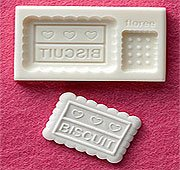 Miniature Rectangular Biscuit - Sweet Deco - Floree Clay Mold