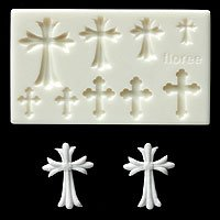 Miniature Cross - Sweet Deco - Floree Clay Mold