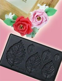 FLOREE Clay Mold - Miniature Clay Rose Leaf - Sweet Deco