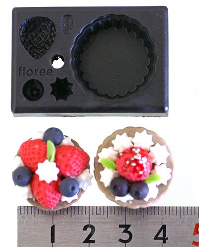 Miniature Strawberry Tart - Sweet Deco - FLOREE All-in-One Clay Mold -