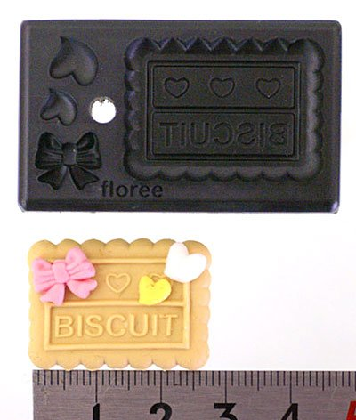 Miniature Rectangular Biscuit - Sweet Deco - Floree All-in-One Clay Mold