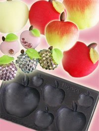 Clay Mold - Fake Miniature Apple (B) - Fruit Series - Reusable