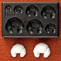 Clay Mold - Fake Miniature Croissant (A) - Sweet Deco - Non Edible Food Art - Reusable