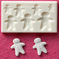 Clay Mold - Miniature Clay Ginger Man - Sweet Deco - Reusable