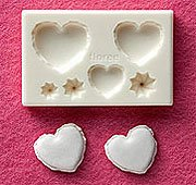 Clay Mold - Fake Miniature Heart Macaron - Sweet Deco - Reusable