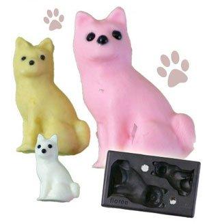 Clay Mold - Miniature Japanese Dog - Animal Series - Reusable