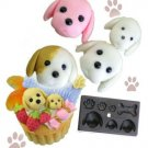 Clay Mold - Miniature Lovely Dog - Animal Series - Reusable
