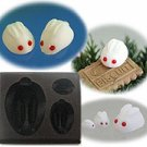 Clay Mold - Miniature Snow Rabbit (B) - Animal Series - Floree Clay Mold - Sweet Deco